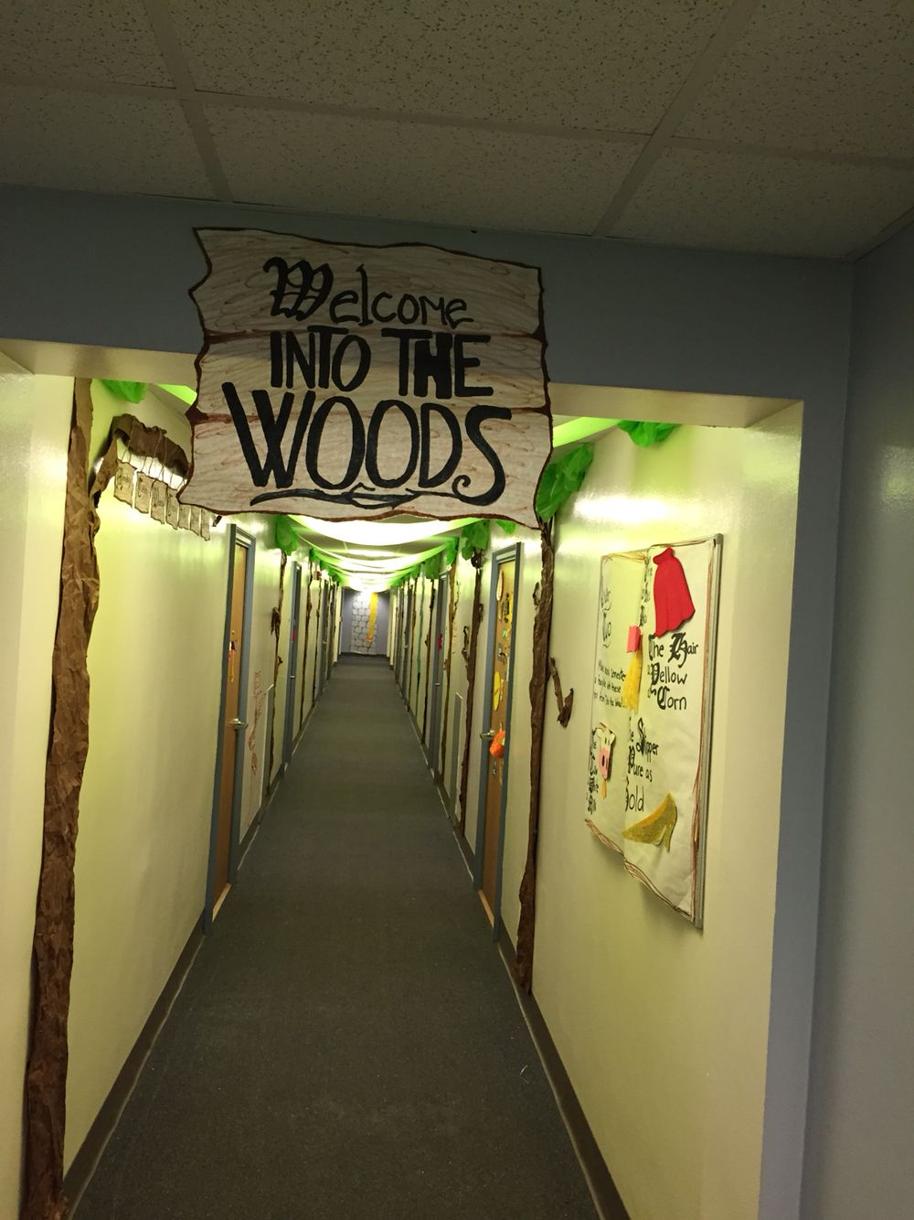 Hallway floor decor  Into the Woods floor theme  RA  RA Floor Themes  Pinterest