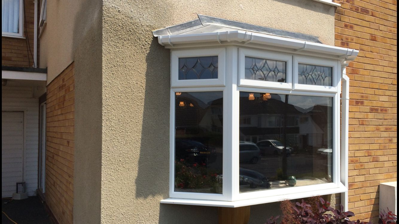After a new bow window with leaded roof rendering to match