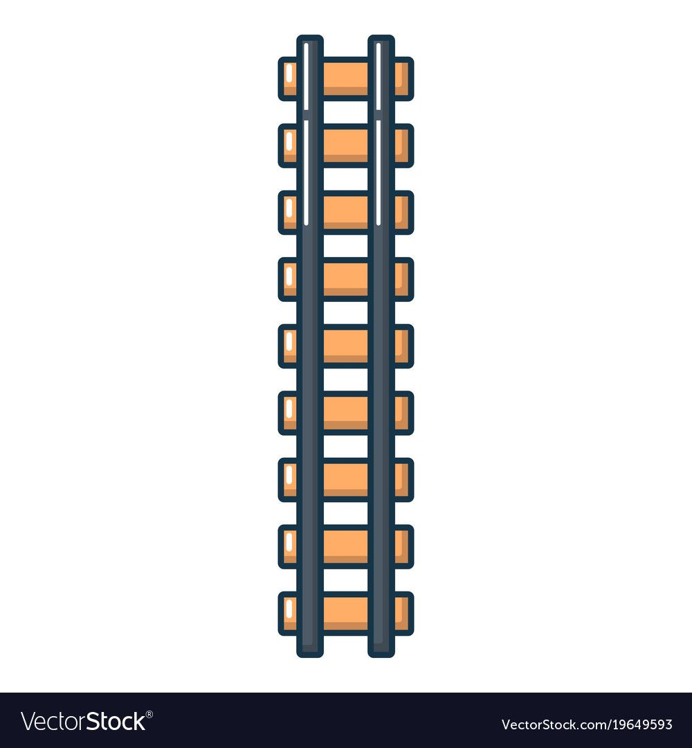 Railway Icon Cartoon Illustration Of Railway Vector Icon For Web Download A Free Preview Or High Quality Adobe Cartoon Styles Scrapbook Layout Sketches Icon