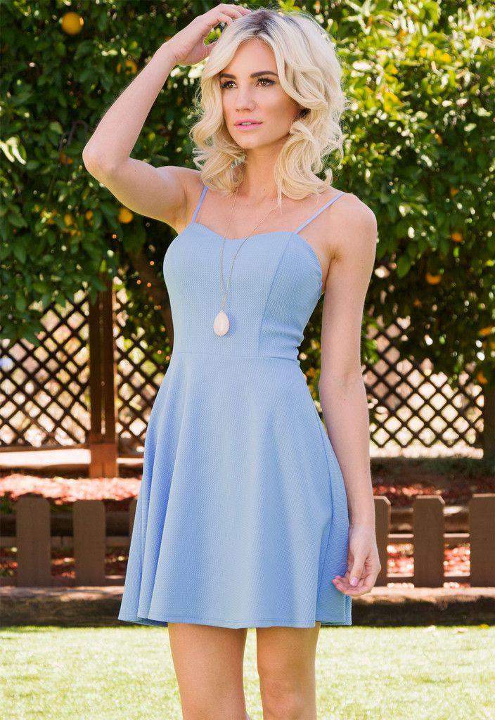 Elsa Skater Dress - Periwinkle