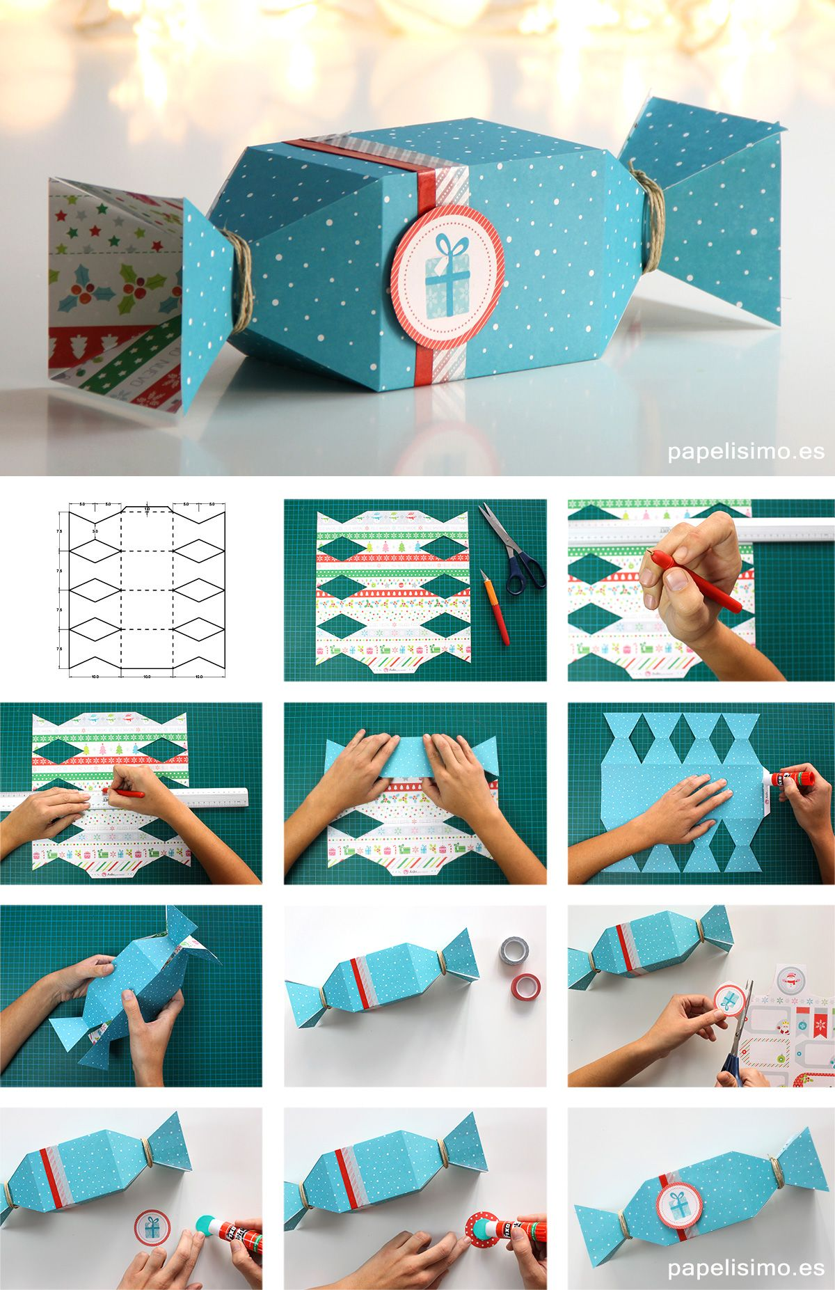 Momento Giftbox Caja Caramelo Regalo De Papel How To Make Candy Box Paper