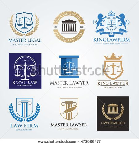 Lawyer logo collection The judge, Law firm logo template, lawyer - invitation letter format for judges