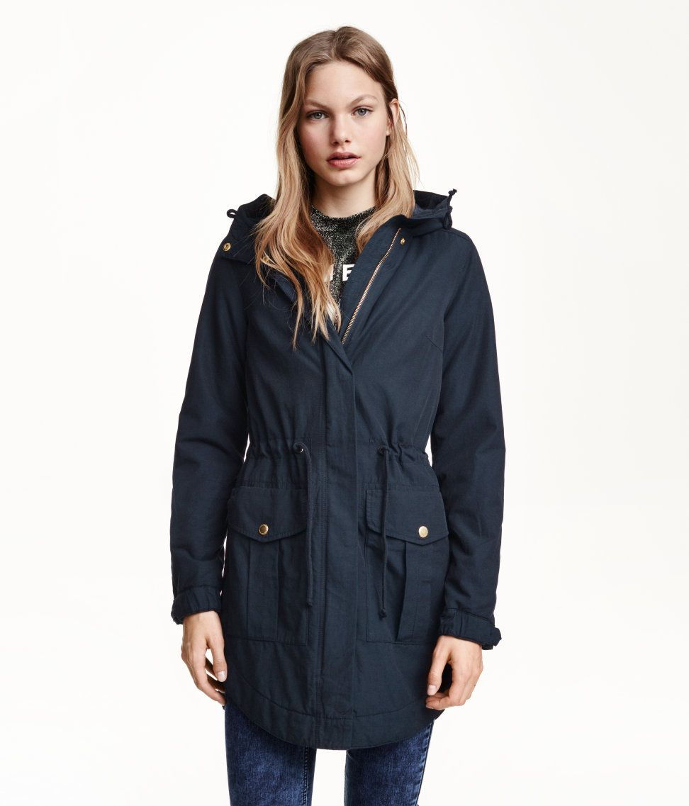 Navy Parka | H&M GB