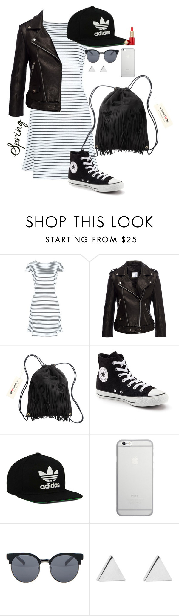 """""""Bez tytułu #44"""" by curly-hair123 ❤ liked on Polyvore featuring H&M, Converse, adidas Originals, Native Union, Quay, Jennifer Meyer Jewelry and Estée Lauder"""
