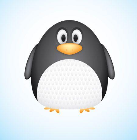 Create a Cute Vector Penguin Character in Illustrator