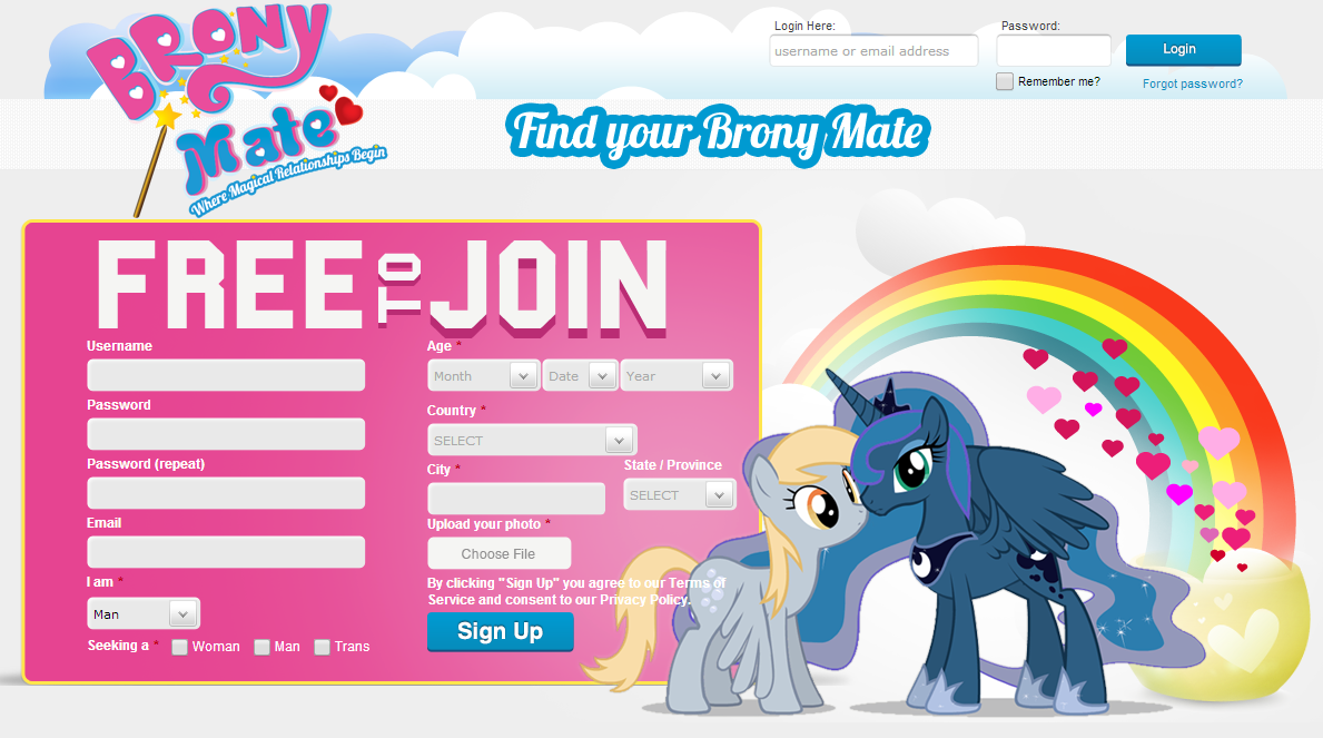 my little pony dating website Through ethnographic observation of the my little pony (/mlp/) discussion board on the website 4chan, we find that these men construct a communal identity around their lamont, e (2015) the limited construction of an egalitarian masculinity: college-educated men's dating and relationship narratives.