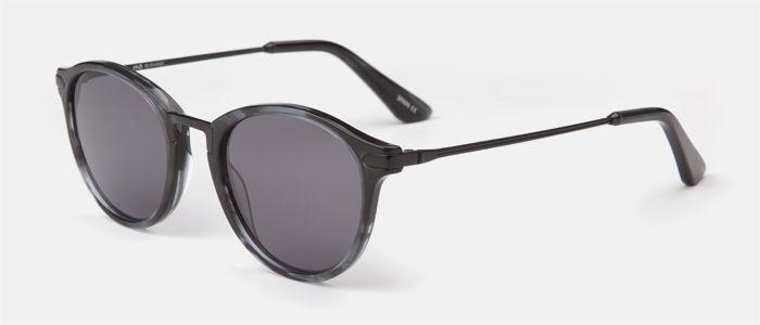 561b4f9a47 Gafas de sol unisex, con forma redonda, con frente de pasta en tonos negros