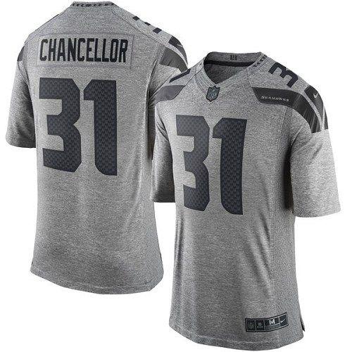 Nike Limited Kam Chancellor Gray Men s Jersey - Seattle Seahawks  31 NFL  Gridiron 2e6b6df6b