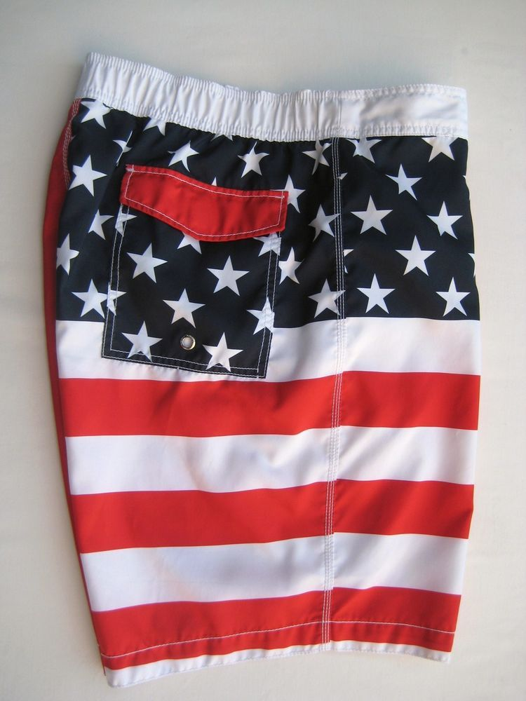 df82342a77 Old Navy Men's Swim Trunks Bathing Suit Board Shorts XXL Red White Blue Flag  #OldNavy #SwimTrunks