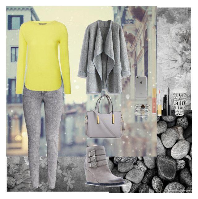 """Walk in winter city"" by oksana-kolesnyk ❤ liked on Polyvore featuring H&M, MaxMara, Chicwish, Qupid, Accessorize, Könitz and Incase"