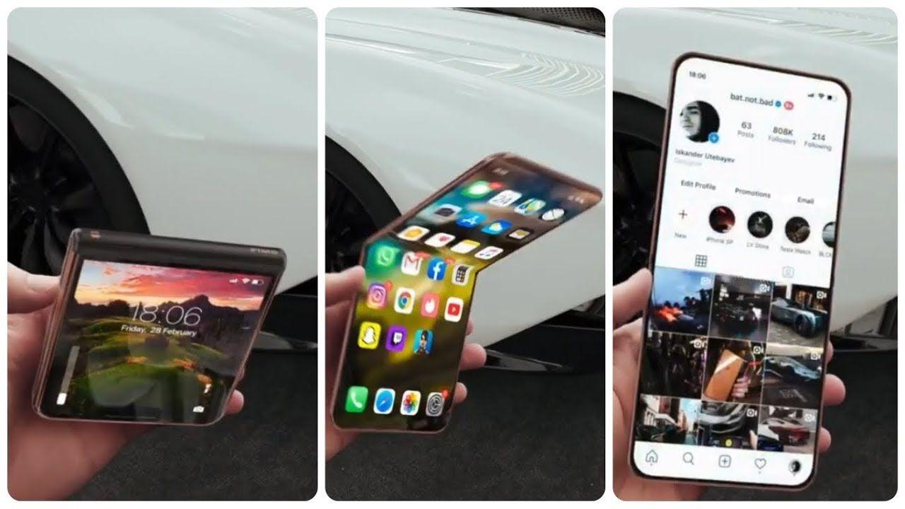 Iphone 12 Flip 2020 Prototype In 2020 Iphone Apple Smartphone New Iphone