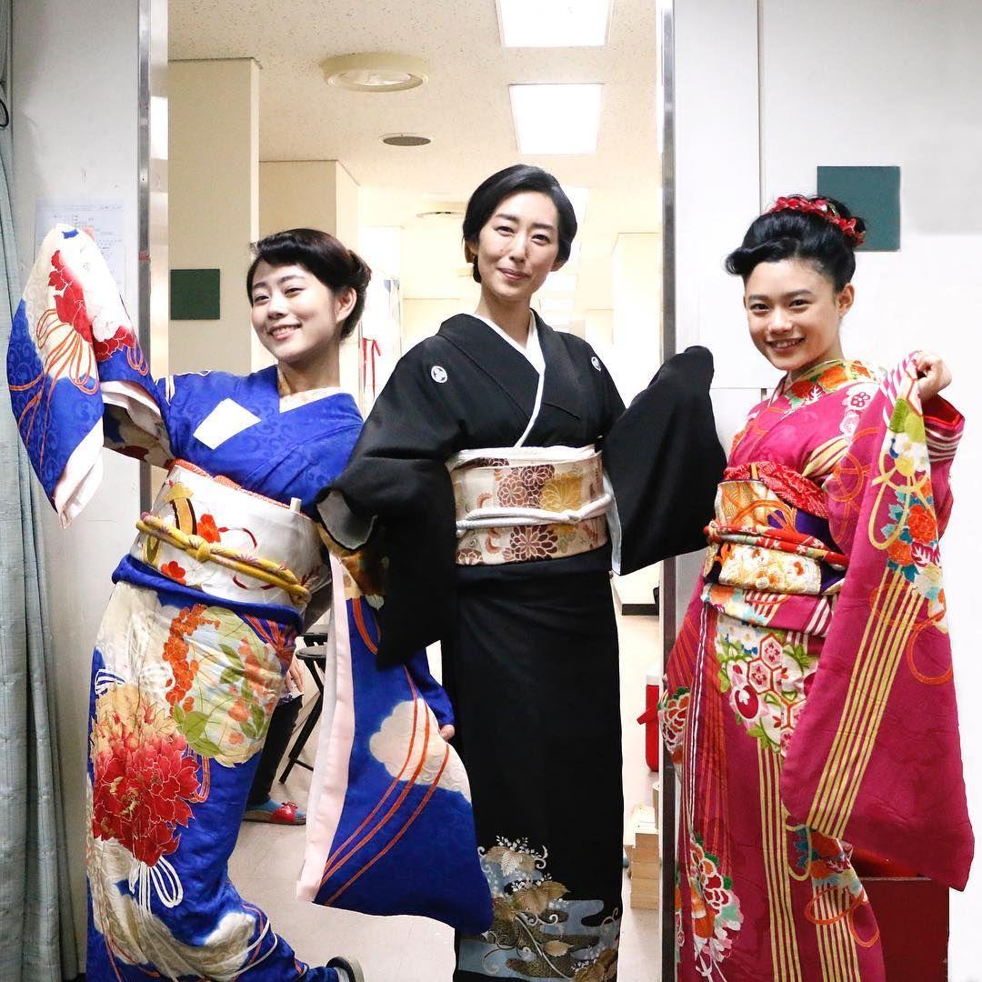 常子、美子の着物姿は 番組ではなかなか見られない 貴重な1枚