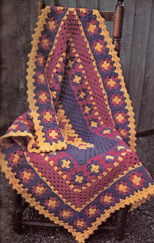 Floral Border Crib Blanket Crochet Borders Crochet Crochet