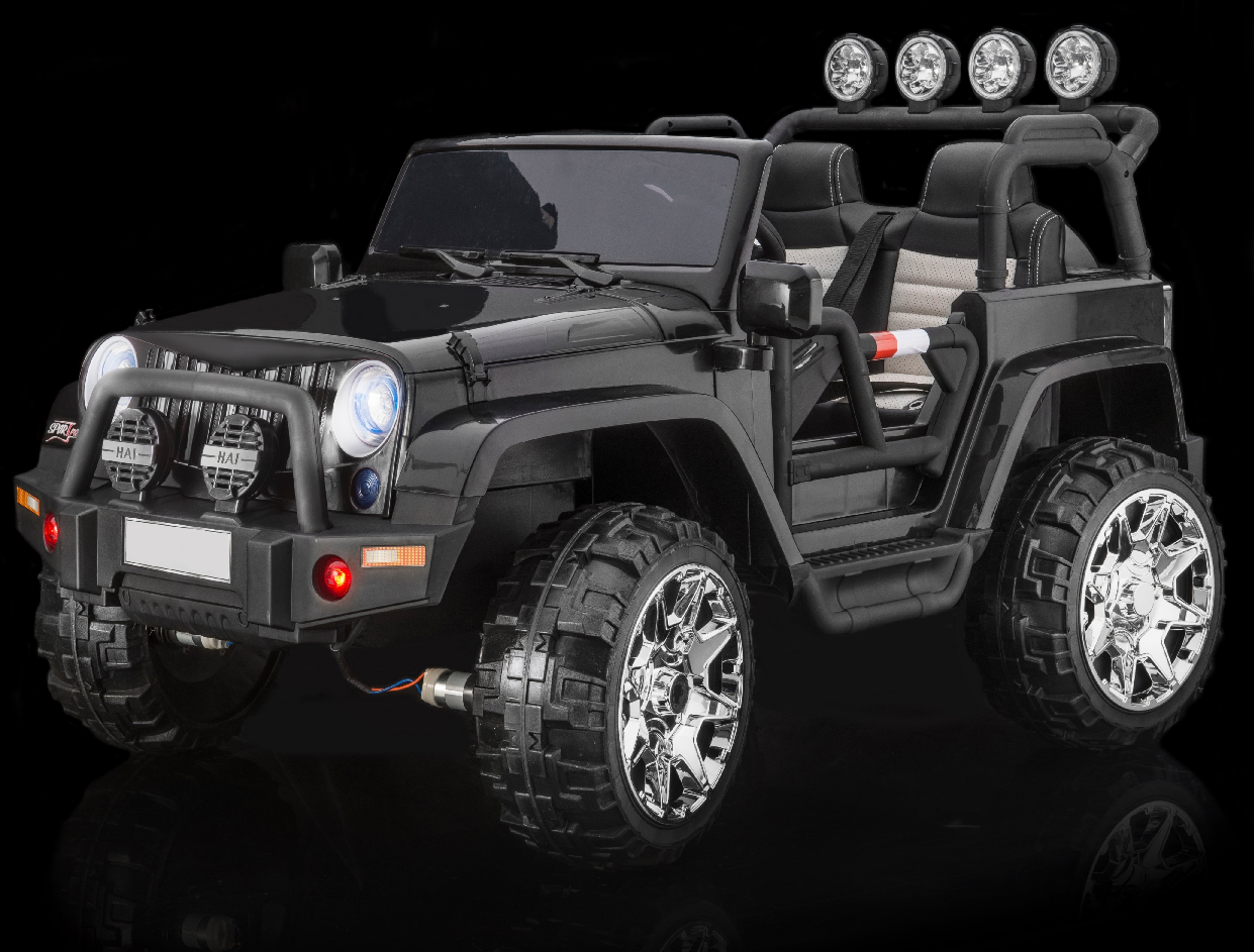 Rubber Tires Fully Loaded 2 Seater 4x4 Electric Ride On Jeep Style 24 Volt Truck For Kids W Magic Cars Wireless Parental Control Magic Car Kids Ride On Car