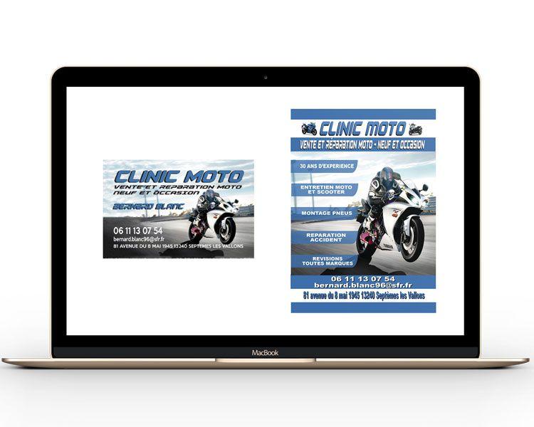 Cration Carte De Visite Et Flyer Garage Moto