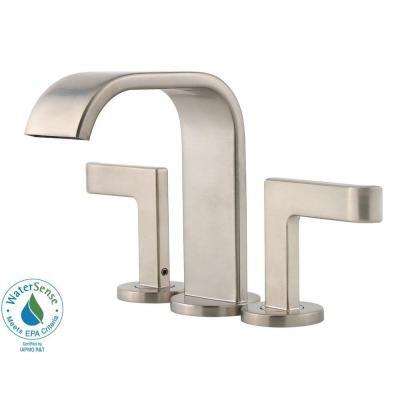 Pfister Skye 4 in. Centerset 2-Handle Bathroom Faucet in Brushed Nickel | Home Depot | $116.30