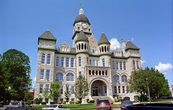 """Route 66 - Jasper County Courthouse, on old Rt. 66 in Carthage, Missouri. """"The Fine Art Photography of Frank Romeo."""""""
