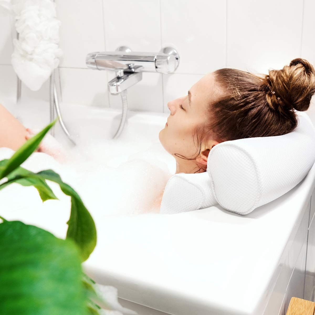 Navaris Badekissen Badezimmer Bad Badewanne Wellness Makeup Beauty Tips Bath Bathroom Badewanne Badewannenkissen Baden