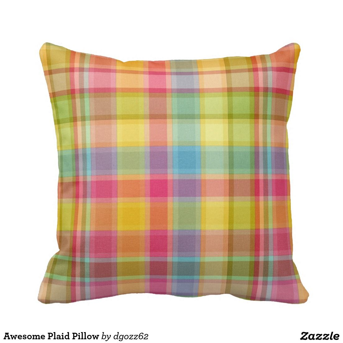 Awesome Plaid Pillow
