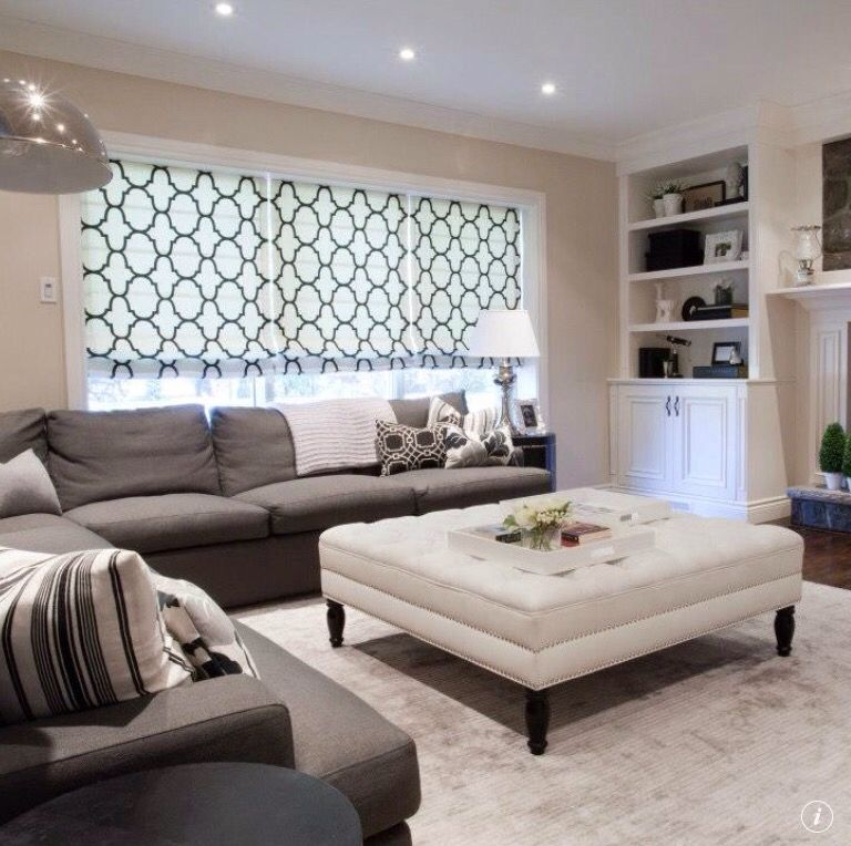 Grey Furniture With Tan Walls: Contemporary Living Room