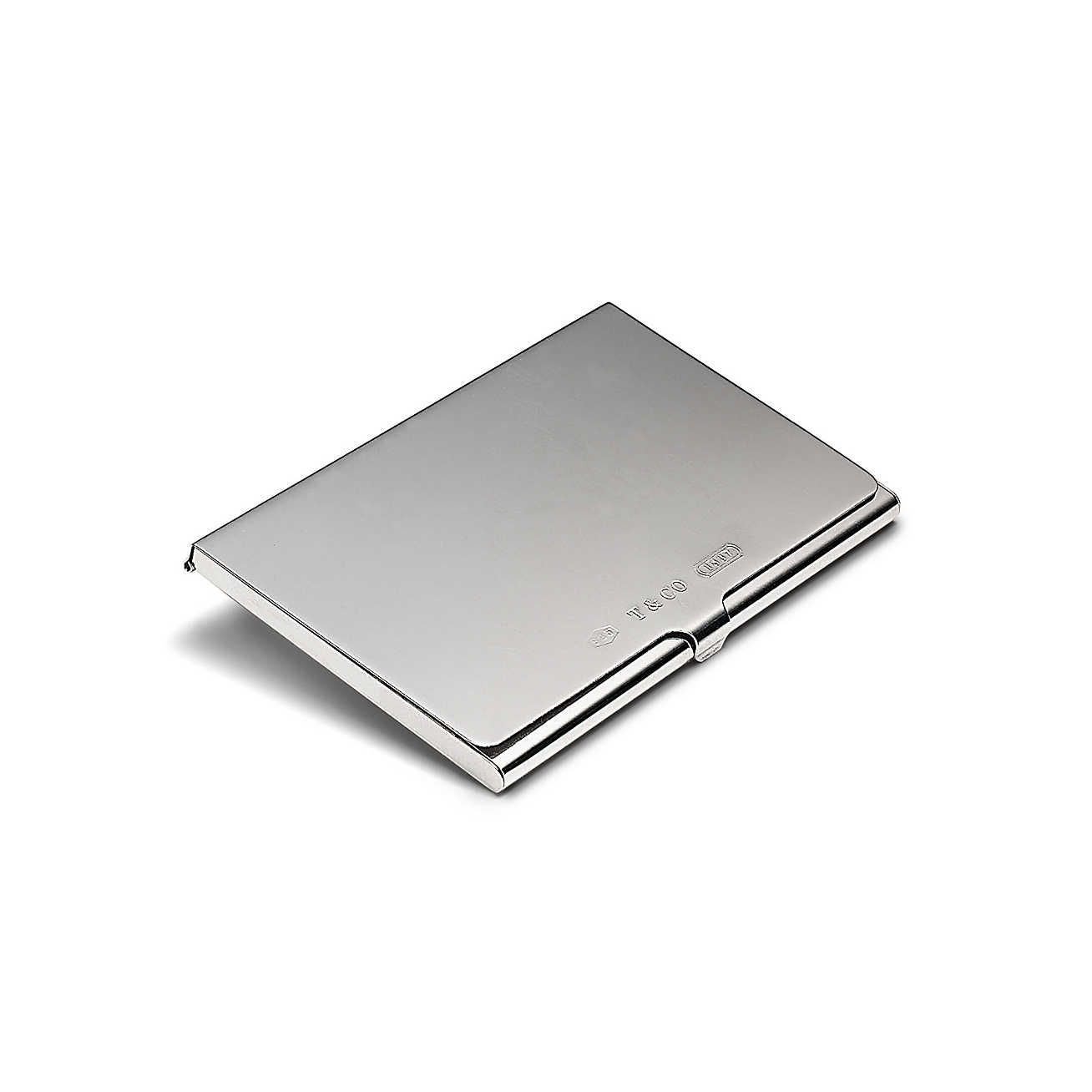 The Tiffany Sterling Silver Business Card Case That Makes A Bold Statement At Co And Add Engraving For Personalized Touch