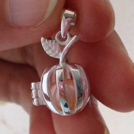 Silver apple style pearl gem bead locket cage sterling silver silver apple style pearl gem bead locket cage sterling silver pendant mounting aloadofball Image collections