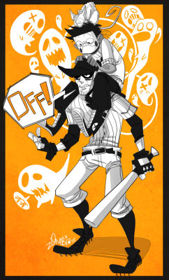 my art fanart off the judge off game zacharie the batter