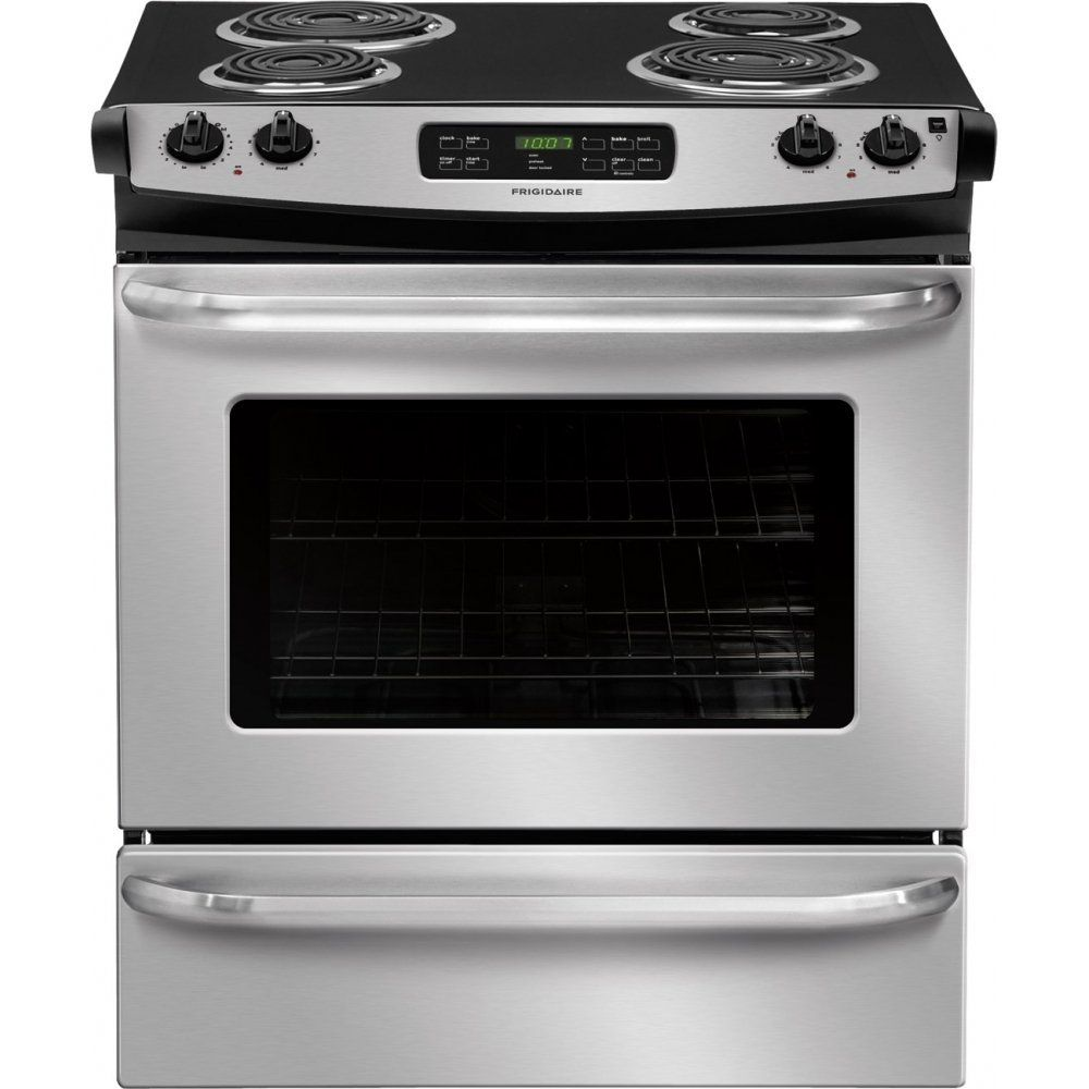 Frigidaire Ffes3015ps Ada Compliant 4 6 Cu Ft 30 Slide In Electric Range In Stainless Steel This Electric Range Oven Cleaning Washing Machine In Kitchen