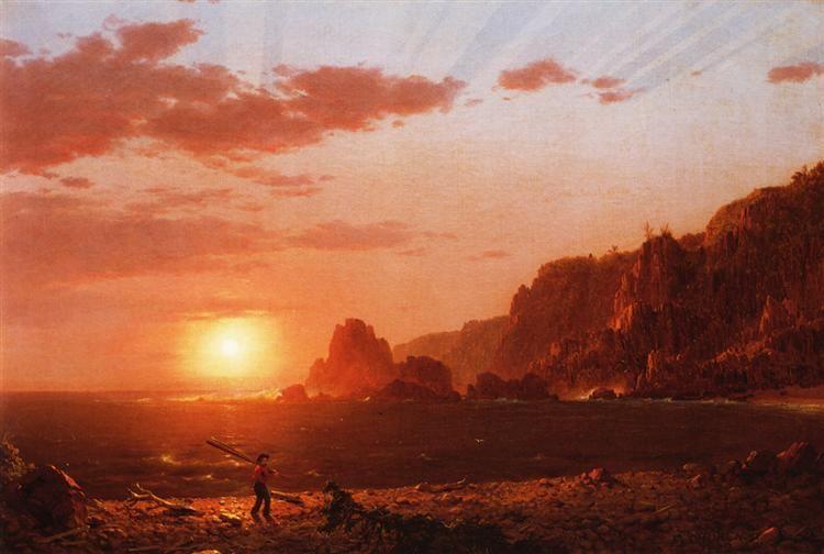Grand manan island bay of fundy 1852 frederic edwin