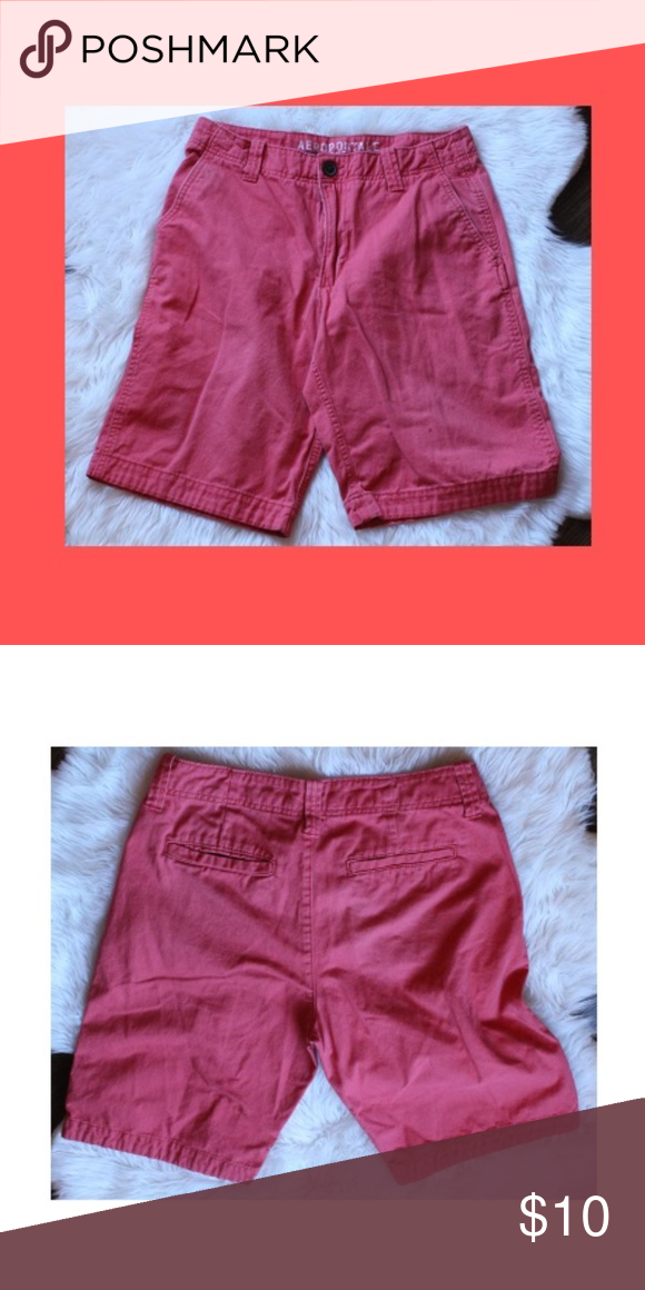 Aeropostale shorts size is 30 length is 20 inches red/orange in