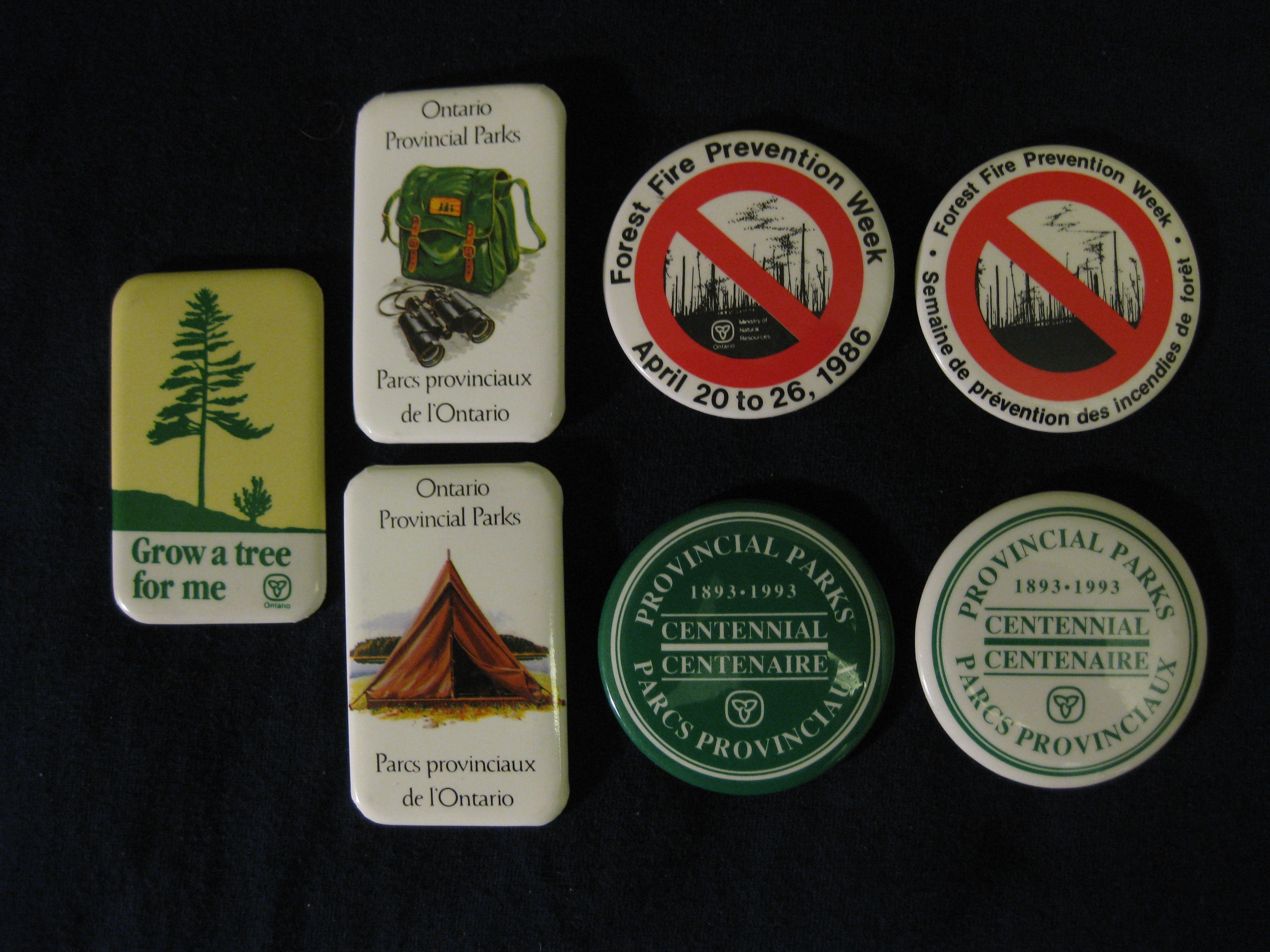 Ontario Parks buttons