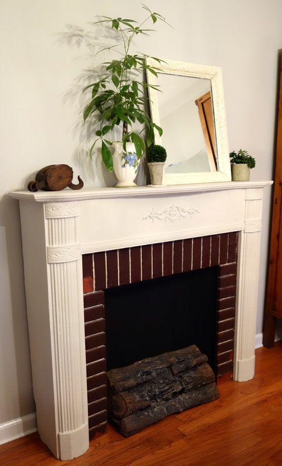 Antique Handmade Faux Fireplace Electric Lit Logs By Verdigreen Handmadehomedecorideas Handmade Home Decor Ideas Faux Fireplace Handmade Home Decor Ho
