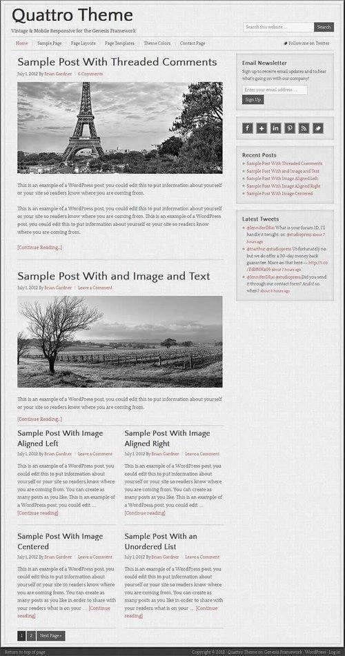 Quattro Theme Review - StudioPress | READ B4 BUY