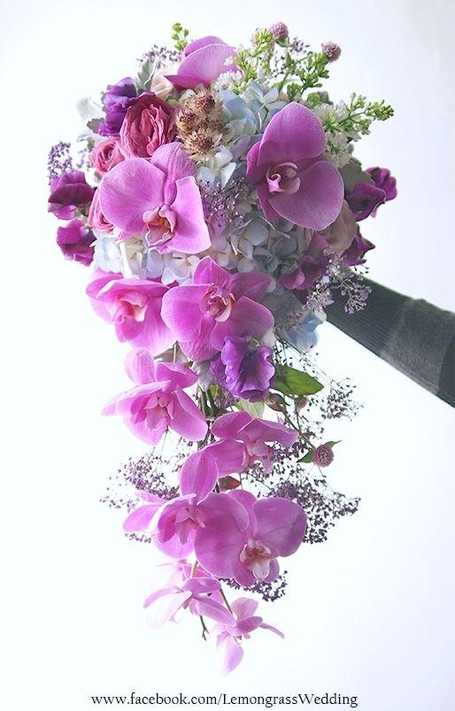 Pin by LemongrassWedding on Fresh flower waterfall bouquet ...