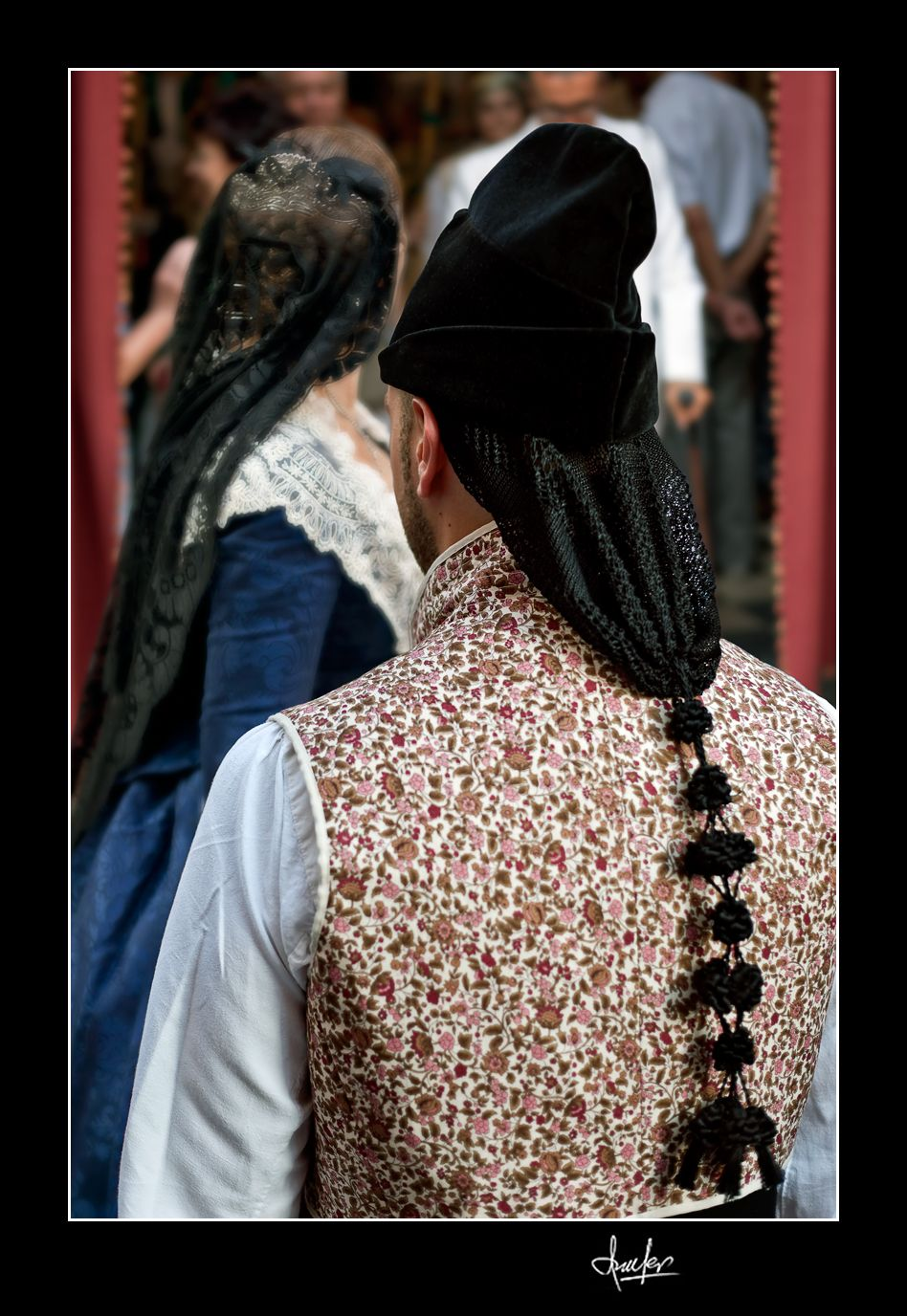 Spain. Valencian man in traditional dress with black cap. If you like this scene, you can purchase Fine Art Reproductions of the best JC Ferro's photos clicking on the image. http://fineartamerica.com/featured/bel-air-1956-miami-juan-carlos-ferro-duque.html