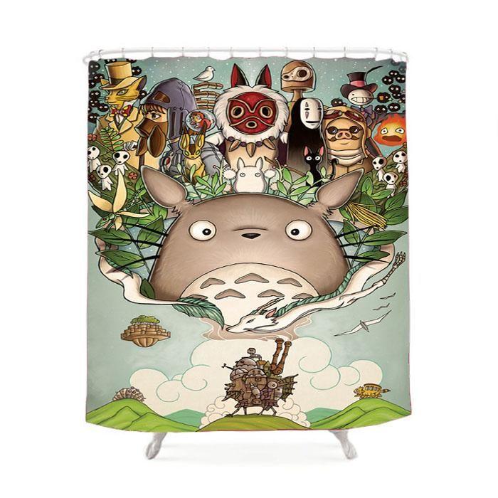 Totoro Princess Mononoke Shower Curtain Studio Ghibli Studio