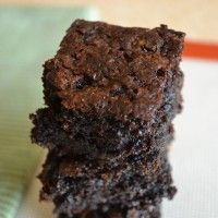 Moist Zucchini Brownies-#brownies