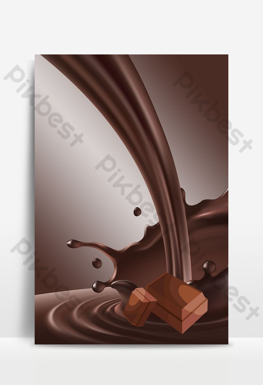 براون بسيط الشوكولاته حريري ملصق صورة الخلفية خلفيات Psd تحميل مجاني Pikbest In 2020 Background Images Image Chocolate