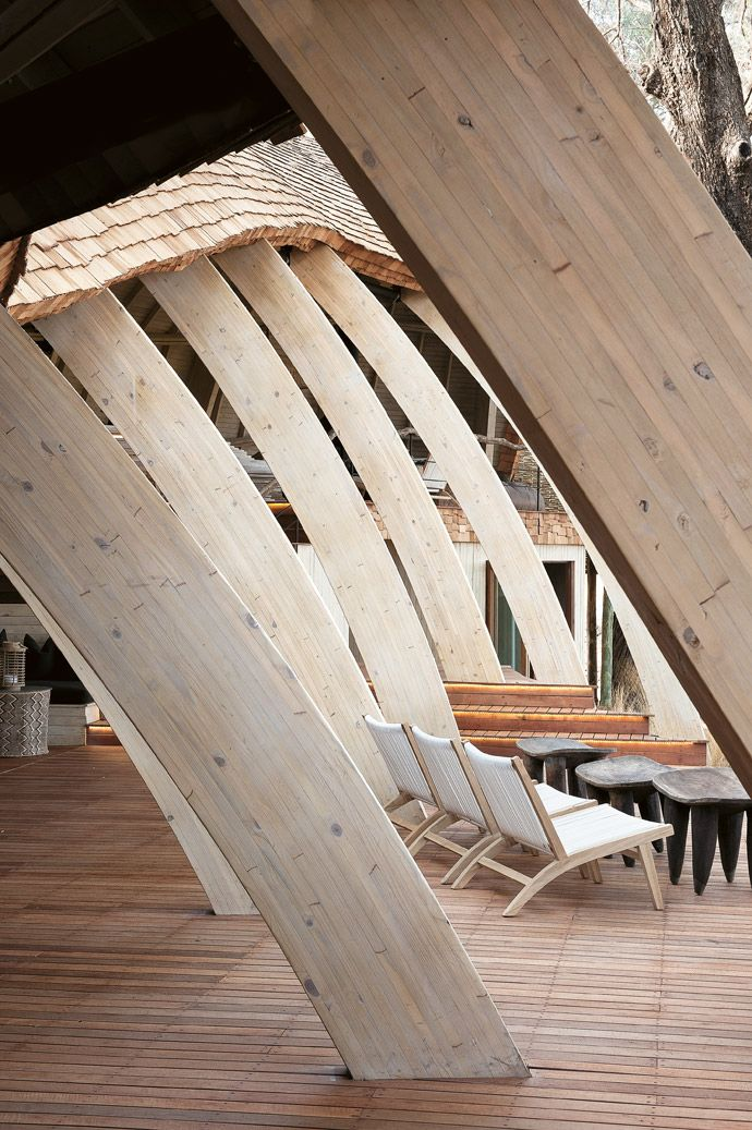 Afrocentric Zen     The Nature Inspired Lines Of The Sandibe Architecture  Are Seldom Straight. The Arched Wooden Beams That Form The Skeleton Of The  ...