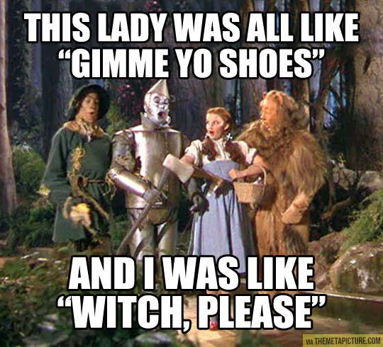 Funny Dorothy Shoes Witch Please Funny Haha Funny Humor