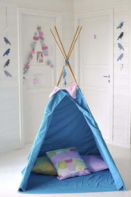 Mrs Hardy: Teepee av 2 sengesett (eller metervare) DIY/SDS