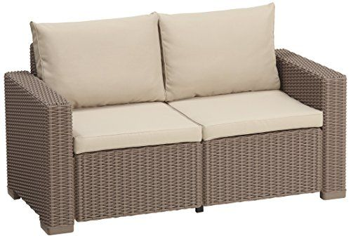 Allibert California 2 Seater Sofa   Cappuccino With Sand Cushions Discount  From Β£199,