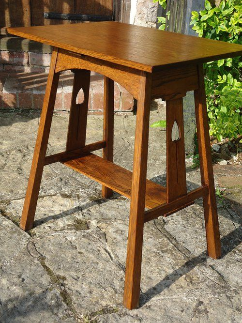 Antique Side Tables, Arts U0026 Crafts Liberty U0026 Co Side Table. Delightful And  Very Elegant Oak Arts U0026 Crafts Side Table With Pierced Spades To Splayed  Legs At ...