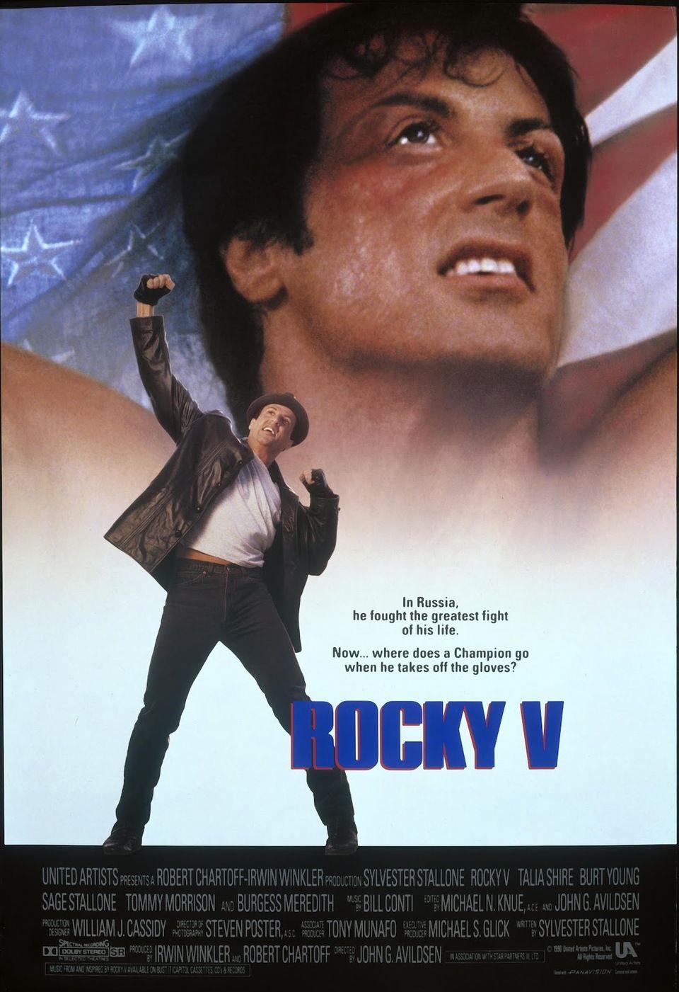 Cartel Estados Unidos De Rocky V Pôsteres De Filmes Posters De Filmes Cartazes De Cinema