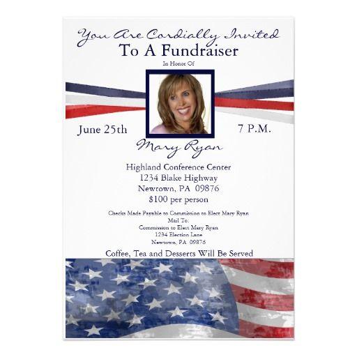 Political Fundraiser Invitations  Political Fundraiser Invitation