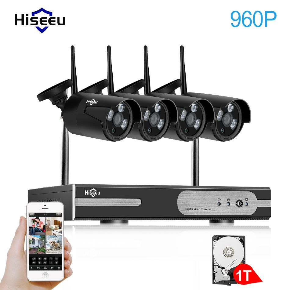 Waterproof Outdoor Wireless CCTV 960P IP Home Security System ...