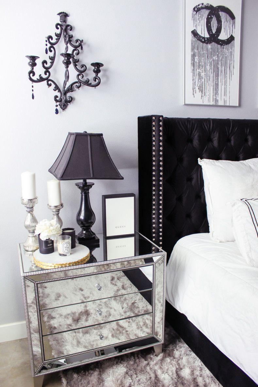 Black & White Bedroom Decor Reveal images