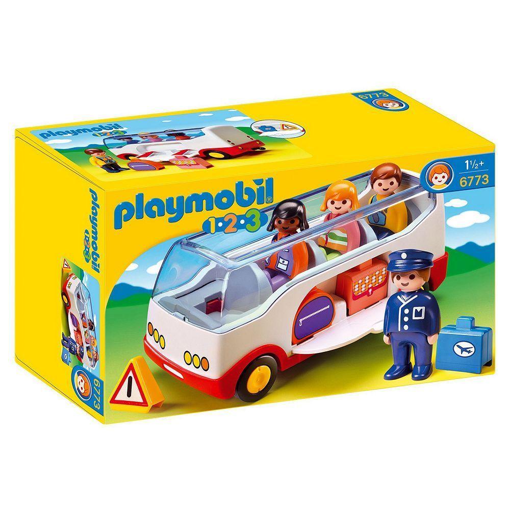 Playmobil 1.2.3 Airport Shuttle Bus 6773 Playmobil