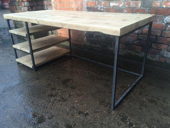 Récupération industrielle chic bois métal bureau par