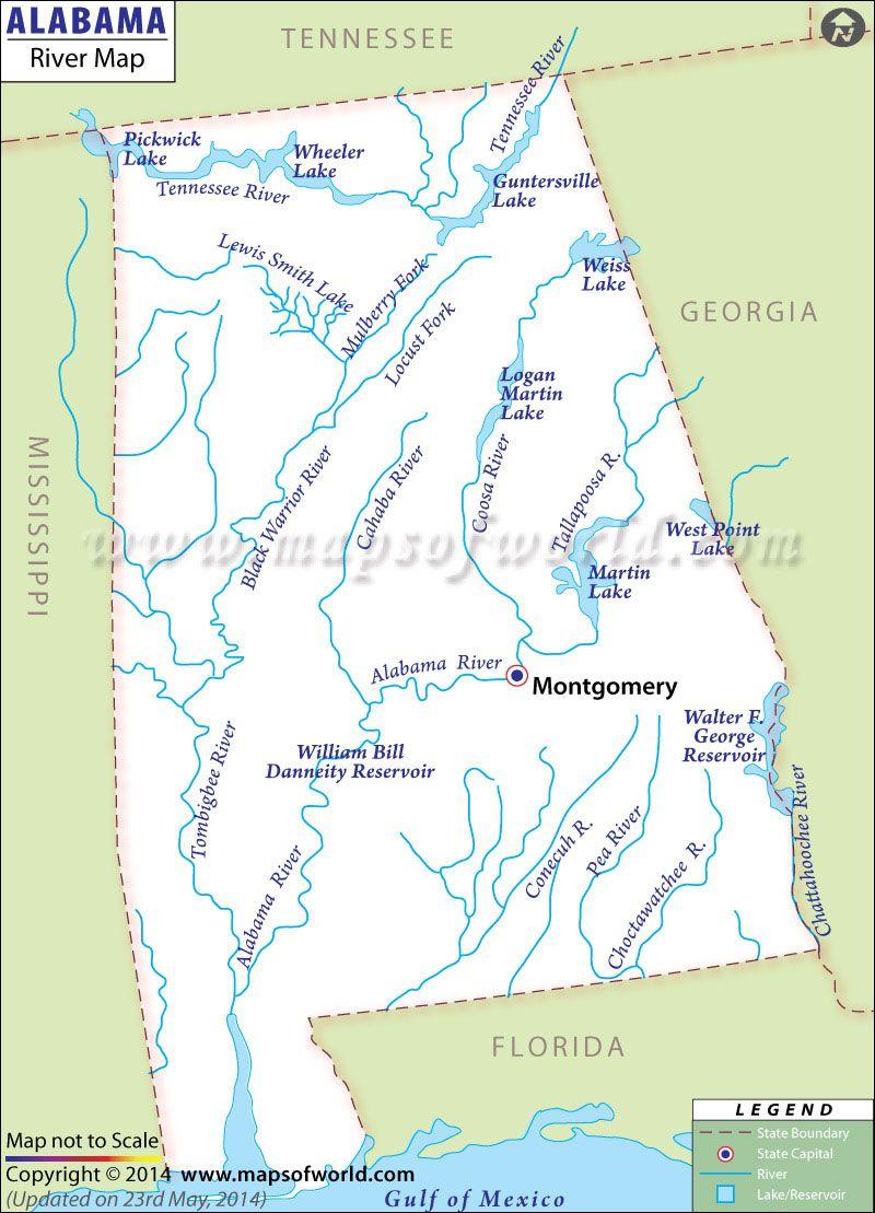 alabama lakes and rivers map Alabama River Map Map Alabama Map Skills alabama lakes and rivers map